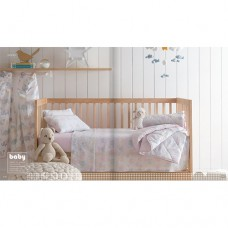 Edredom Infantil para Berço Baby Fofis Rosa - Santista