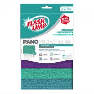 Conjunto de Panos de Microfibra Multiuso 3pçs - FlashLimp