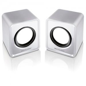 Caixa de Som 2.0 Mini 3W RMS - Branco - Multilaser