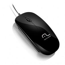 Mouse USB Colors Slim - Black Piano - Multilaser