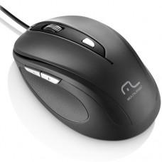 Mouse com Fio Comfort USB 6 Botões Preto - Multilaser