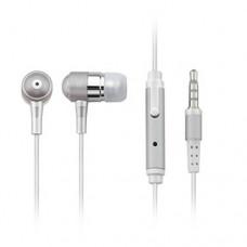 Fone de Ouvido Auricular com Microfone Prata -  Multilaser