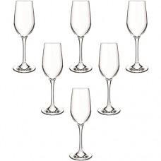 6 Taças para Champagne Bouquet  240ml - Cisper