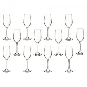 12 Taças para Champagne Bouquet  240ml - Cisper