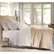 Edredom Queen Home Design 100% Poliéster Boreal Bege - Corttex