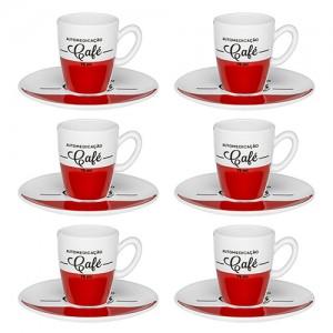 Conjunto de Café Expresso Cafeína 75ml 12pçs - Oxford