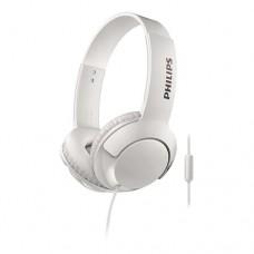 Fone de Ouvido Supra-auricular On-ear BASS+ com Driver 32mm e Microfone Branco - Philips