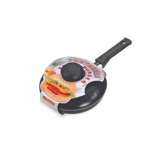 Frita Burger c/ Tampa Preto 16cm - Alumínio Fortaleza