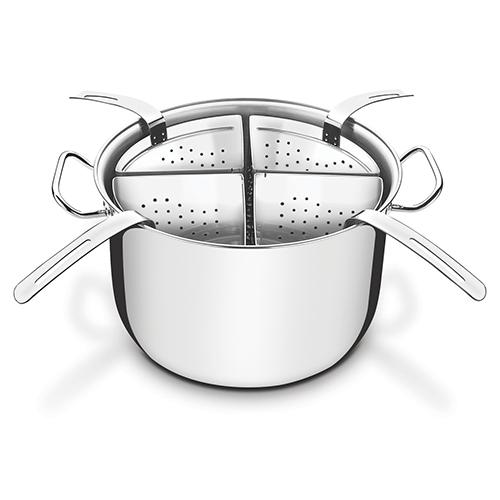Jogo Cozi-Pasta Aço Inox 4 Recipientes 30cm - Tramontina