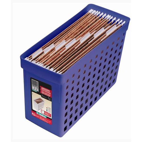 Arquivo Estreito com Furação Azul -Ordene
