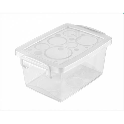 Mini Organizador com Alça e Trava 400ml Cristal - Ordene