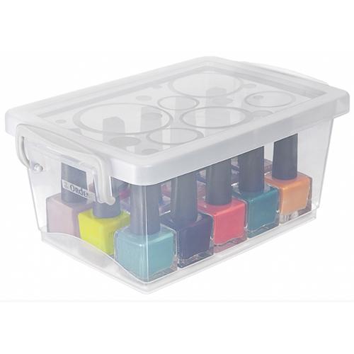 Mini Organizador c/ Alça e Trava 1,5L Cristal - Ordene