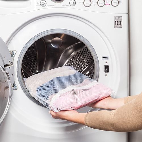 Saco Pequeno com Zíper p/ Lavar Roupas - Ordene