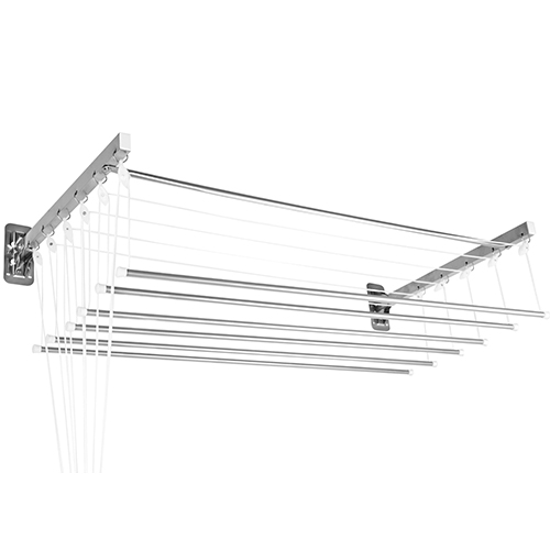 Varal Prático para Teto e Parede em Alumínio 1,20m - Secalux