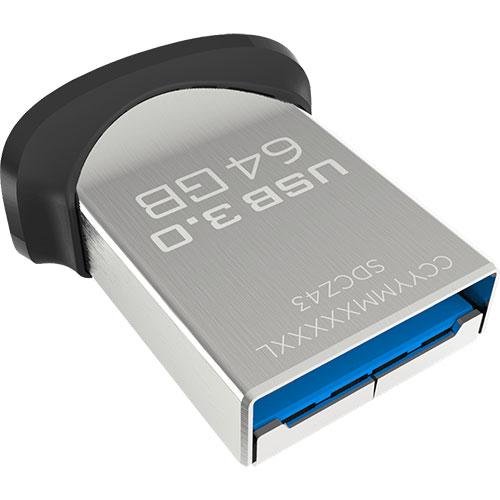 Pen Drive Ultra Fit USB 3.0 64GB - SanDisk