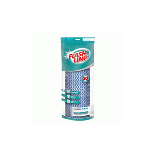 Rolo de Pano Multiuso Azul 50pçs - FlashLimp