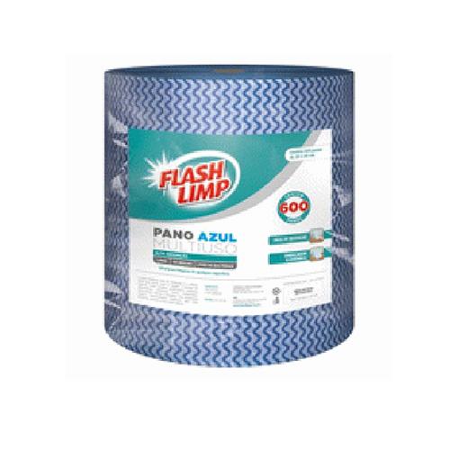 Rolo de Pano Multiuso Azul 600pçs - FlashLimp