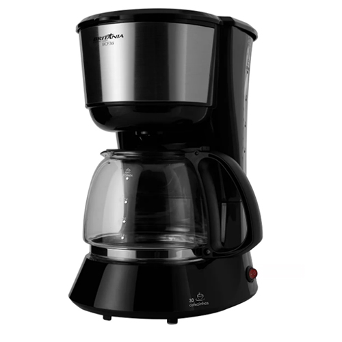 Cafeteira Elétrica Sistema Corta-Pingos Preta 1,5L - Britânia