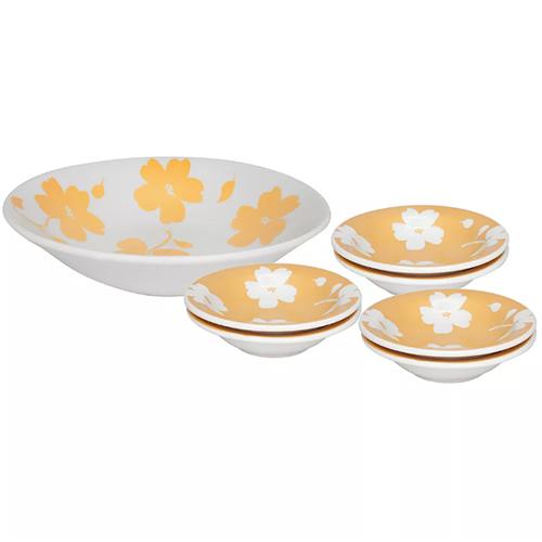 Conjunto de Sobremesa de Cerâmica Biona Jasmin Verão 7pçs - Oxford
