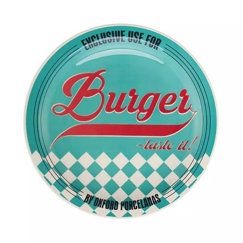 Prato Raso de Porcelana Burger Blue 26cm - Oxford