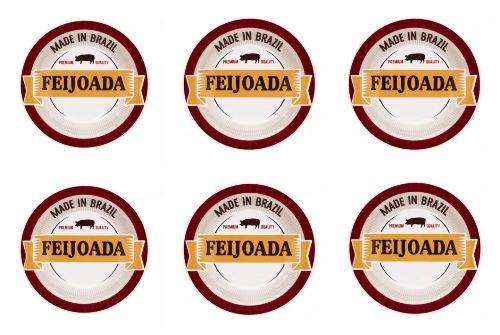 Conjunto de Pratos Fundo de Porcelana Feijoada Premium 6pçs - Oxford