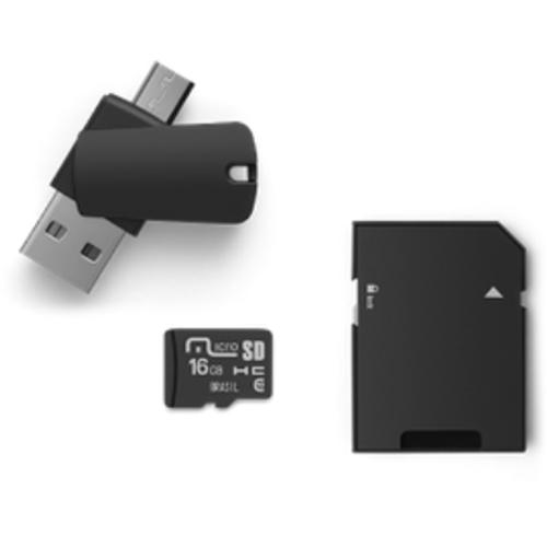 Kit Dual Drive OTG para Smarphone e Tablet 16GB Preto - Multilaser