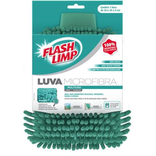 Luva Multiuso de Microfibra - FlashLimp