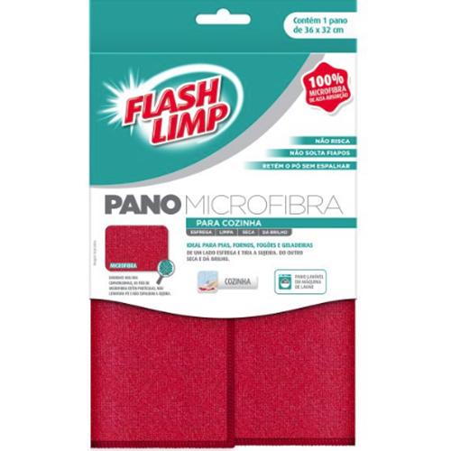 Pano de Microfibra para Cozinha - FlashLimp