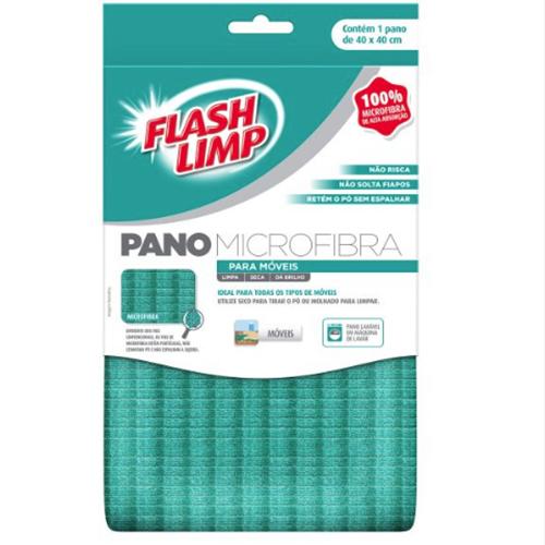 Pano de Microfibra para Móveis - FlashLimp