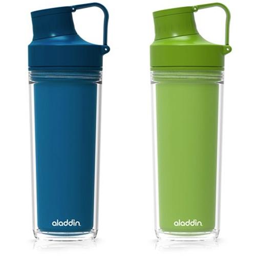 Garrafa de Hidratação Active c/ Parede Dupla Dark Jeans ou Maça Verde 500ml - Aladdin