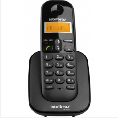 Telefone Ramal sem Fio Digital ID Preto - Intelbras
