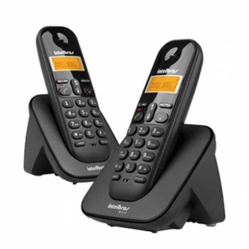 Telefone sem Fio Digital ID c/ Ramal Adicional Preto - Intelbras