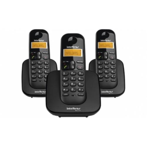 Telefone sem Fio Digital ID com Dois Ramais Adicionais Preto - Intelbras