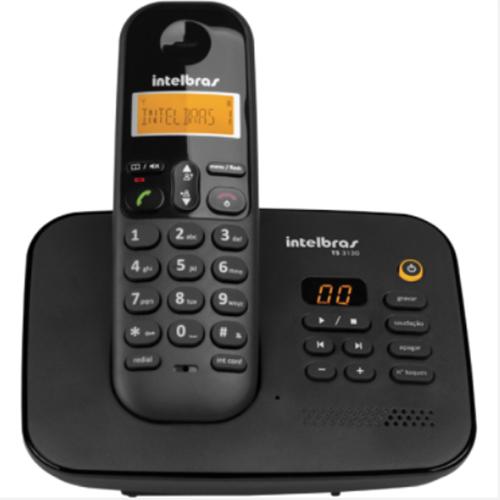 Telefone sem Fio Digital ID c/ Secretária Eletrônica Preto - Intelbras