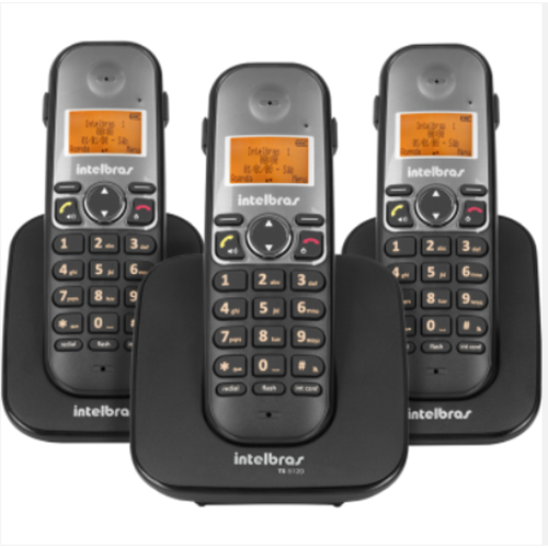 Telefone sem Fio Digital ID c/ Dois Ramais Adicionais Preto - Intelbras