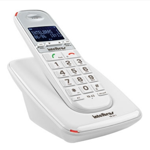 Telefone sem Fio Digital ID Branco - Intelbras