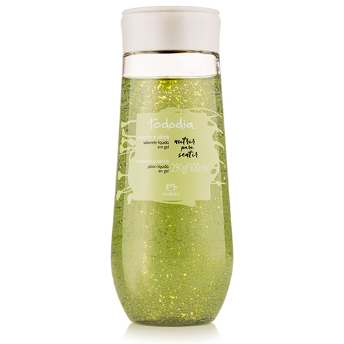 Sabonete Líquido em Gel para o Corpo Alecrim e Sálvia Tododia 300ml - Natura
