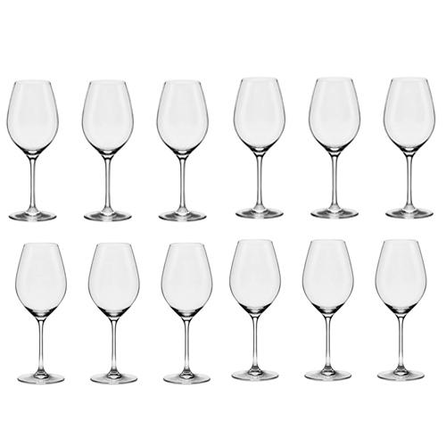 Conjunto de Taças de Cristal para Vinho Bordeaux 660ml Forever Classic 6pçs Oxford + Conjunto de Taças de Cristal para Vinho Chardonnay Forever Classic 470ml 6pçs Oxford