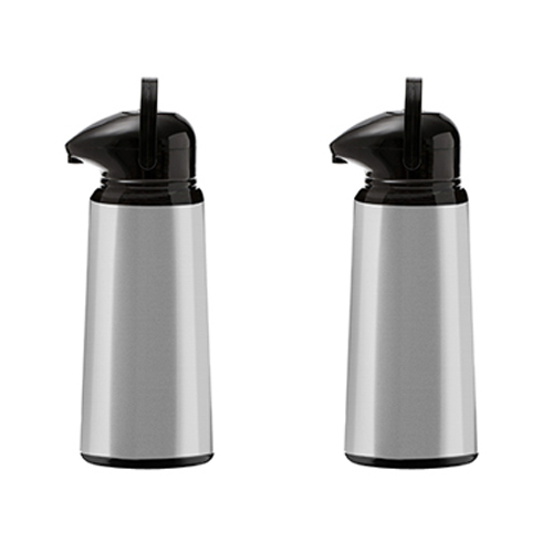2 Garrafas Térmicas Platinum Cromada Black 1,8l - Aladdin