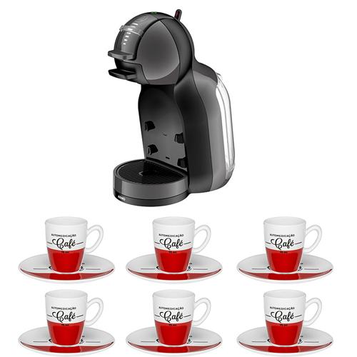 Nescafé Dolce Gusto Mini Me Preta Arno + Conjunto de Café Expresso Cafeína 75ml 12pçs Oxford
