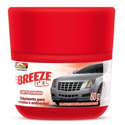 Odorizante Breeze Gel Carro Novo 60g - Proauto