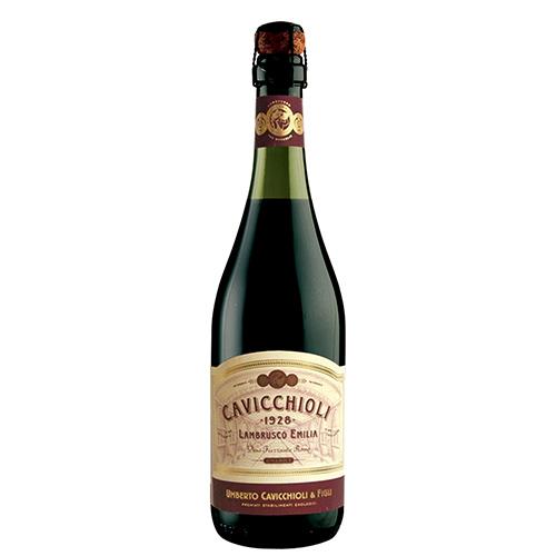 Vinho Lambrusco Cavicchioli Dell Emilia Tinto Suave 750ml