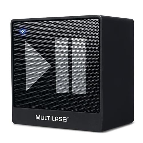 Caixa De Som Bluetooth 8W Preta - Multilaser