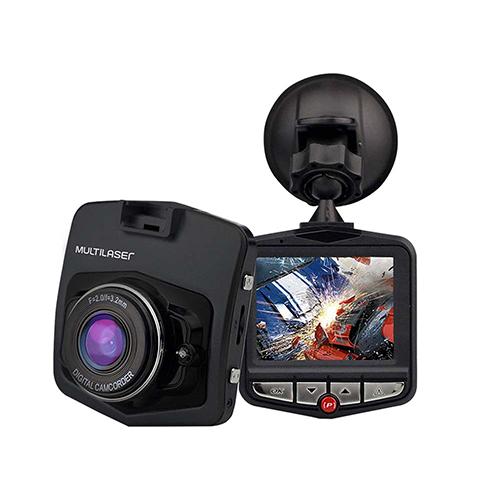 Câmera Veicular com Sensor Movimento Looping e Visão Noturna Preta - Multilaser