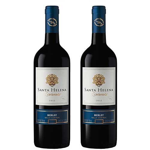 2 Vinhos Santa Helena Merlot Reservado 750ml