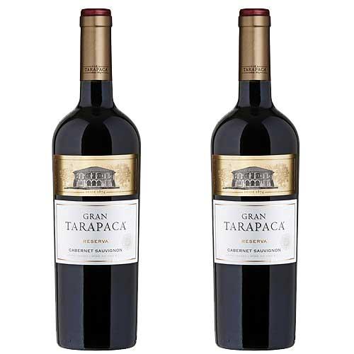 2 Vinhos Gran Tarapacá Reserva Cabernet Sauvignon 750ml