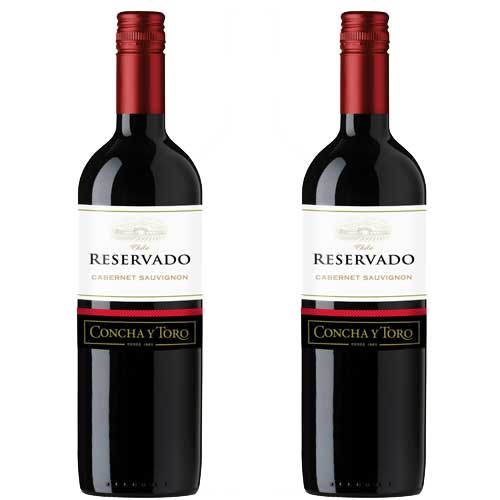 2 Vinhos Concha Y Toro Reservado Cabernet Sauvignon 750ml