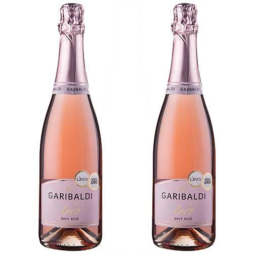 2 Espumantes Garibaldi Vero Brut Rosé 750ml