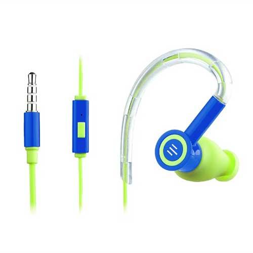 Fone de Ouvido em Silicone Earhook Pulse Azul e Verde - Multilaser
