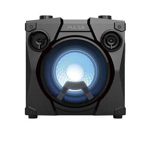 Caixa de Som Bluetooth Party Speak Cube TWS Pulse Preta - Multilaser